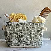 Grey Flowers Storage Tub - Small