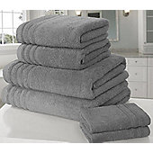 Zero Twist Hand Towel - Charcoal