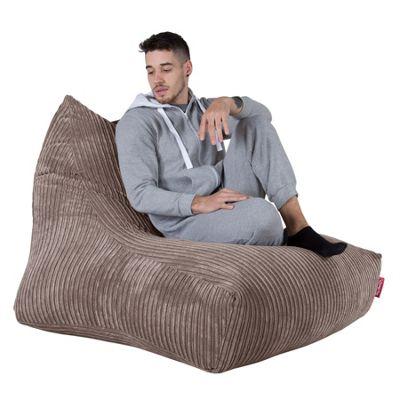 Lounge Pug® Mega Lounger Bean Bag - Cord Mink
