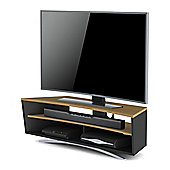 Techlink Prisma TV Stand for up to 65 inch TV s - Satin Black and Light Oak