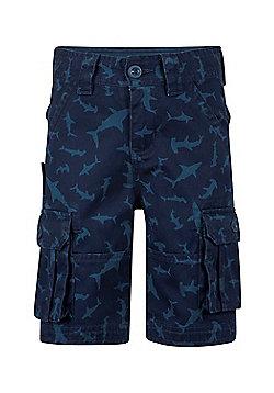 Mountain Warehouse Steve Backshall Shark Cargo Shorts - Blue