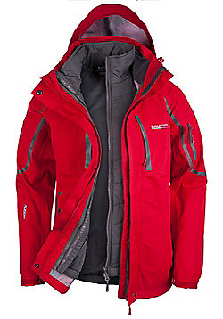 Mountain Warehouse Zenith Womens 3 in 1 Extreme Jacket - Red