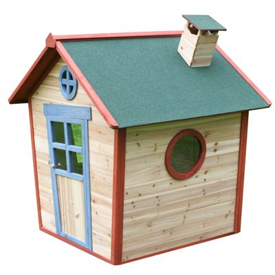 Wooden Playhouse with Floor - Redwood Lodge Children's Wendy House with Chimney