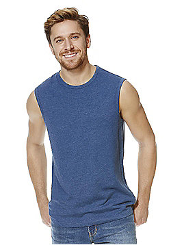 F&F Marl Denim-Look Vest - Blue
