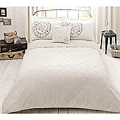 Fusion Rossford Bedspread Natural 200x200cm