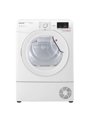Hoover DXH9A2DE 9kg Load Heat Pump Tumble Dryer, White