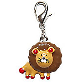 Friendly Lion Clip on Charm