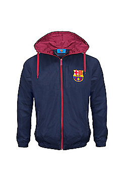 FC Barcelona Boys Shower Jacket - Blue