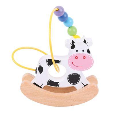 Bigjigs Toys Rocking Bead Frame (Cow)