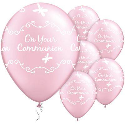 Communion Butterflies 11 inch Latex Balloons - 6 Pack