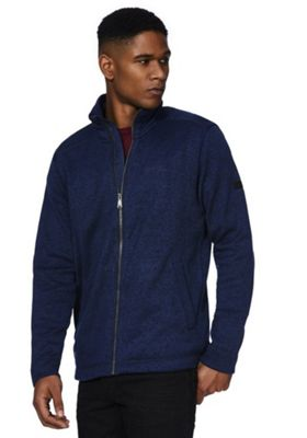 Regatta Braden Textured Zip-Through Fleece XL Blue