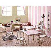 Fantasy Fields Childrens Pink Wooden Rocking Chair Girls Bedroom Nursery W-5147G