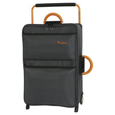 it luggage Worlds Lightest Medium 2 Wheel Dark Shadow/Orange Suitcase