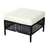 Outsunny Rattan Footrest Square Garden Cushioned Furniture Wicker