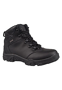 Mountain Warehouse Boys Boots and Breathable Mesh Lining with Deep Lugged - Black