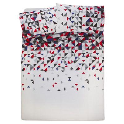 Tesco Geo Triangle Duvet Cover And Pillowcase Set, Single