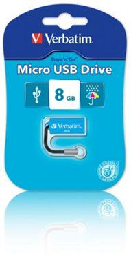 Verbatim USB Stick 8GB Micro Blue