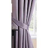 Hamilton McBride Mauve Sateen Blackout Tiebacks - Pair