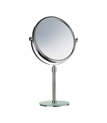 Smedbo Outline Shaving and Make-up Mirror with Glass Foot Plate