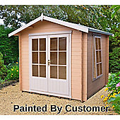 Barnsdale Log Cabin 8x8 with double doors by Finewood
