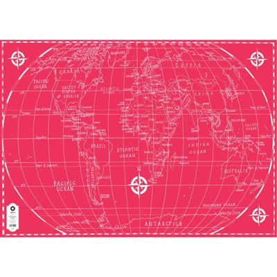 Michael A Hill Map Wrap - World