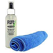 150ml Screen Cleaner Spray with Microfibre Cloth - Phone, Laptop, PC, TV, Tablet