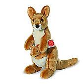 Teddy Hermann 31cm Kangaroo And Joey Plush Soft Toy