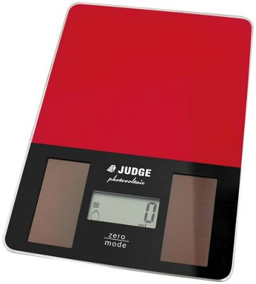 Judge Solar Kitchen Weighing Scales in Red