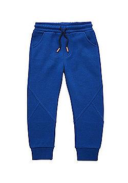 F&F Panelled Seam Drawstring Joggers - Blue