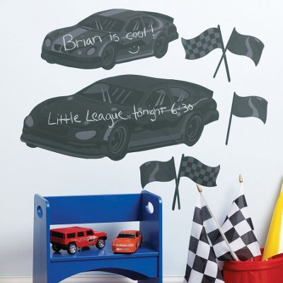 Race Cars Chalkboard Wall Stickers