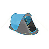 Yellowstone 2 Man Fast Pitch Pop Up Tent Blue