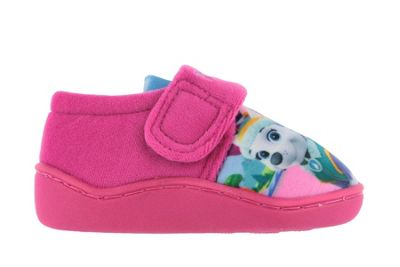 Girls Paw Patrol Pink Slippers Girls Kids Hook & Loop UK Infant Size 5