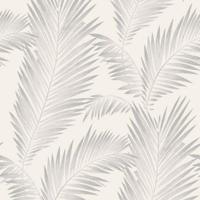 Precious Metals Ardita Leaves Wallpaper - Pearl - Arthouse 673002