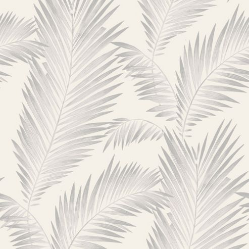 Precious Metals Ardita Leaves Wallpaper - Pearl - Arthouse 673002