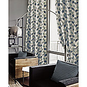 Eden Heavy Chenille Eyelet Jacquard Lined Curtains - Teal