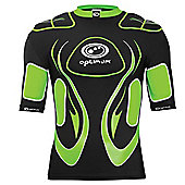 Optimum Inferno Rugby Body Protection Shoulder Pads Black/ Green - XL