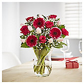 Fondest Love Pink Rose, Tulip & Germini