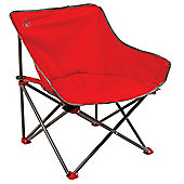 Kick-Back Camping Chair With Carry Bag - Red