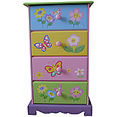 Liberty House Butterfly Garden 4 Drawer Storage