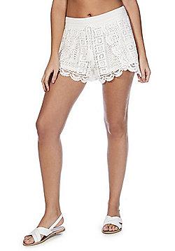 F&F Crochet Beach Shorts - White