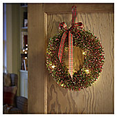 Large Pre Lit Berry Christmas Wreath