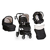 Hauck Lacrosse All In One + Buggy Lights Travel System - Dots Caviar