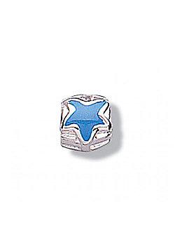 Jo For Girls Blue Star Silver Slide On Bead
