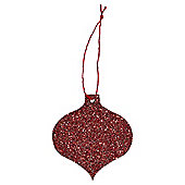 Red Glitter Christmas Gift Tags, 6 pack