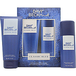 David Beckham Classic Blue Gift Set 150ml Body Spray + 200ml Shower Gel