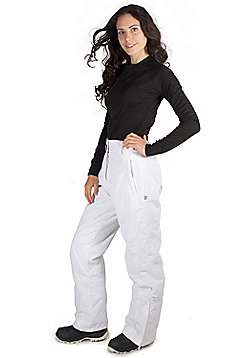 Vail Womens Ski Pants - White