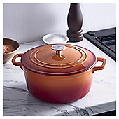 Go Cook 4.6L Cast Iron Casserole Dish Orange