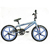 "Rooster Big Daddy Kids 20"" Lavender Skyway Mag Wheels BMX Bike Gyro Grey"