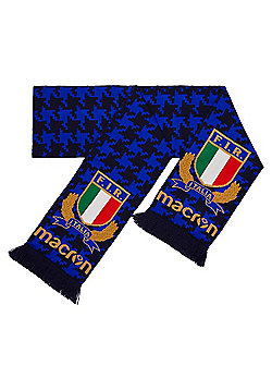 Macron Italy Rugby FIR M17 Double Sided Scarf - Blue