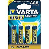Varta Longlife Extra AAA Battery x4
